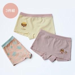 穗花杉和調皮動物-女童四角褲組