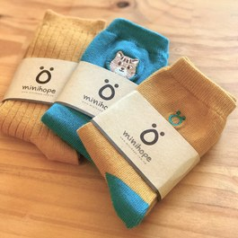 保育動物精梳棉襪3件組(石虎)