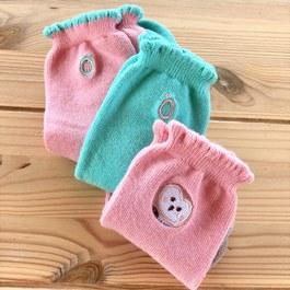 保育動物精梳棉襪3件組(草鴞)