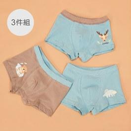 保育動物男童四角褲組