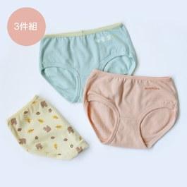松鼠與鳥兒-女童三角褲組