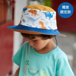 【小牛村 Calf Village】Q萌侏儸紀-雙面漁夫帽(兒童款)附繩