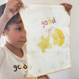 楊桃好朋友-有機棉雙層紗手帕