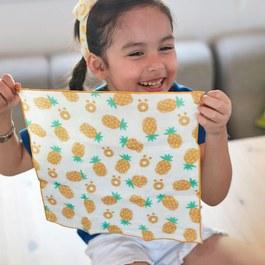 好多鳳梨-有機棉雙層紗手帕