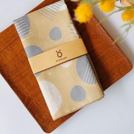 芥黃找找miniö大手帕-37cm有機棉雙層紗