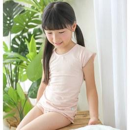 舒適彈性短袖上衣-粉