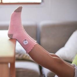 草鴞的花邊萊卡精梳棉襪