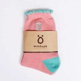 經典ö花邊(粉紅)萊卡精梳棉襪