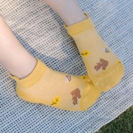 抗菌除臭萊卡短襪-網眼松鼠